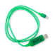 Generic Astrotek 1m LED Light Up Visible Flowing Micro USB Charger Data Cable Green Charging Cord for Samsun