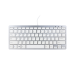 R-Go Tools Compact Keyboard, QWERTY(US), white, wired