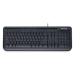 Microsoft Wired Keyboard 600, DE USB QWERTZ German Black keyboard