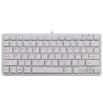 R-Go Tools R-Go Compact Keyboard, QWERTY (UK), white, wired