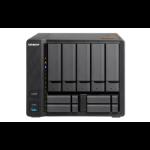 QNAP TS-963X Ethernet LAN Toren Zwart NAS