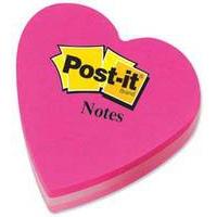 Post-it 3m Postit Diecut Cube Heart Pink 225sht