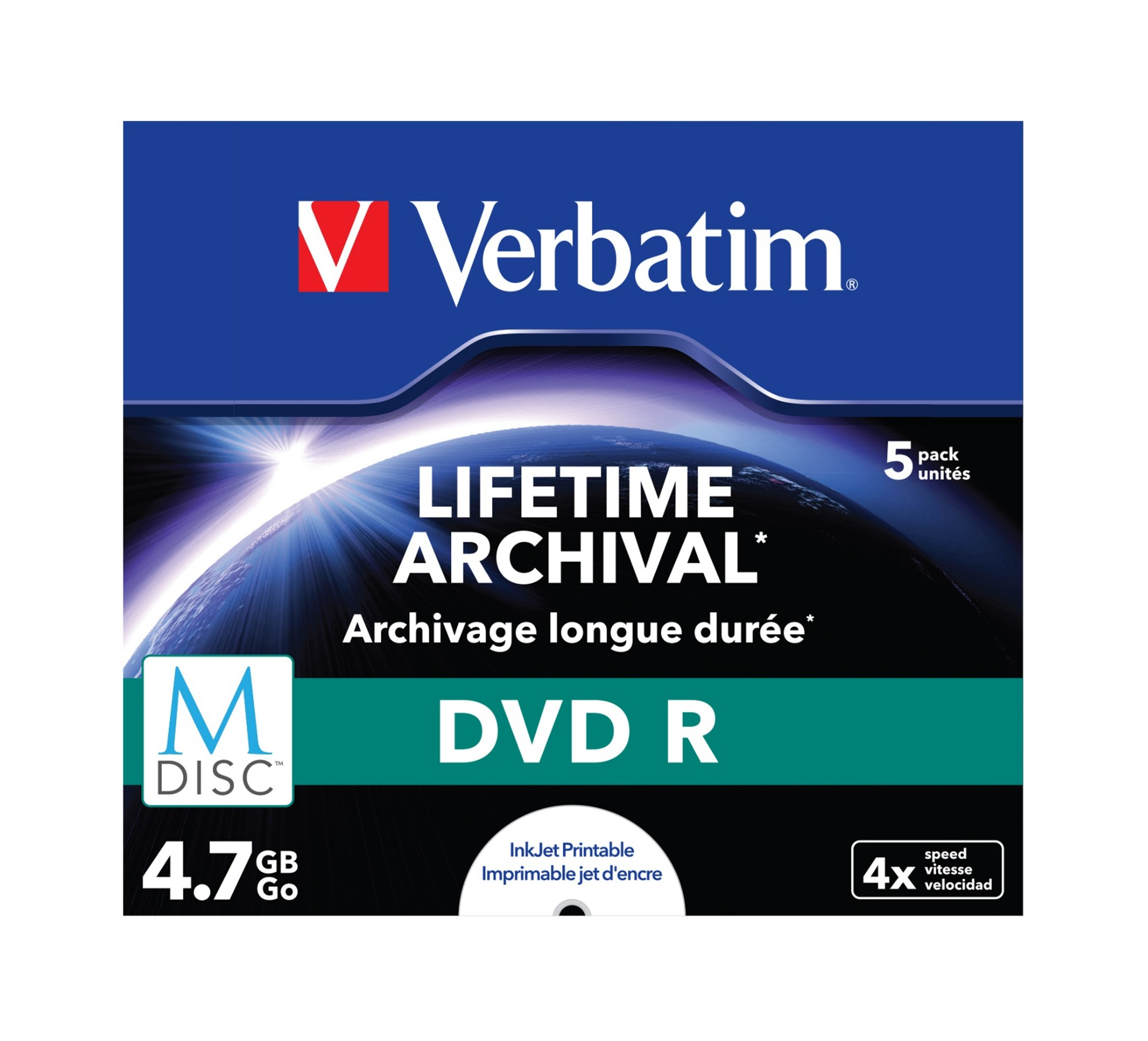 Verbatim M-Disc DVD R 4.7GB 5pc(s)