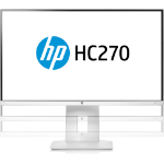 "HP HC270 Healthcare Edition 27"" Wide Quad HD LED White computer monitor"