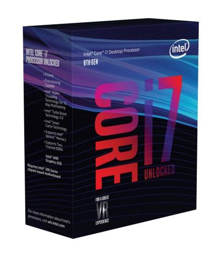 Intel Core ® ™ i7+8700 Processor (12M Cache, up to 4.60 GHz) includes ® Optane™ Memory (16GB) 3.20GHz 12MB Smart Cache Box processor