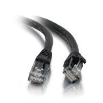 C2G Cable de conexión de red de 3 m Cat5e sin blindaje y con funda (UTP), color negro