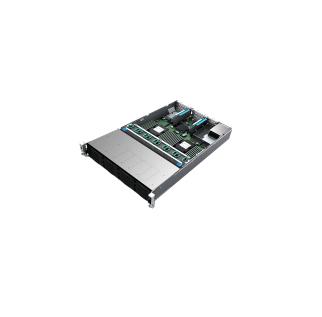 Intel R2312WFQZS Socket P 1U Black, Silver server barebone