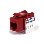 StarTech.com 110 Punch Type Category 6 Keystone Jack - Red 1 - RJ45 F wire connector