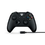 Microsoft 4N6-00001 Gamepad PC, Xbox One Black gaming controller