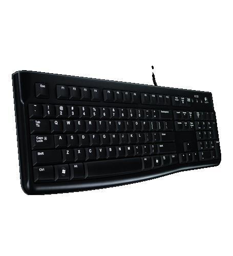 Logitech K120 USB Russian Black keyboard