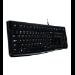 Logitech K120 keyboard USB Russian Black