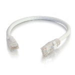 C2G Cable de conexión de red de 1,5 m Cat6 sin blindaje y con funda (UTP), color blanco