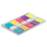 Post-It Flags, Assorted Bright Colors, 1/2 in Wide, 100/On-the-Go Dispenser 100sheets self adhesive flagsZZZZZ], 683-5CB