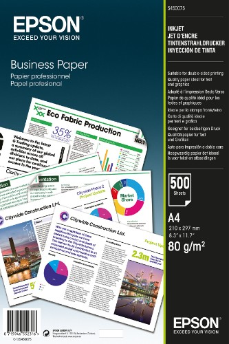 Epson Business Paper - A4 - 500 Sheets printing paper