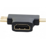 Hypertec 129904-HY cable gender changer Mini HDMI/Micro HDMI HDMI A Black