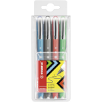 STABILO worker colorful Black, Blue, Green, Red 4 pc(s)