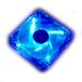 Akasa 12cm crystal blue fan with blue LED