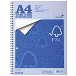 Silvine Notebook Twin Wirebound FSC Paper Perforated 160pp A4 Pack 5