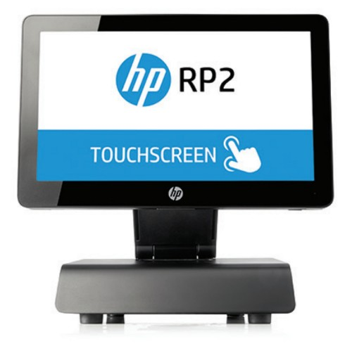 """HP RP2 2000 2GHz J1900 14"""" Touchscreen Black All-in-One PC"""