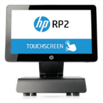 "HP RP2 2000 2GHz J1900 14"" Touchscreen Black All-in-One PC"