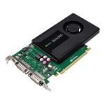 PNY VCQK2000D-PB Quadro 2000D 2GB GDDR5 graphics card