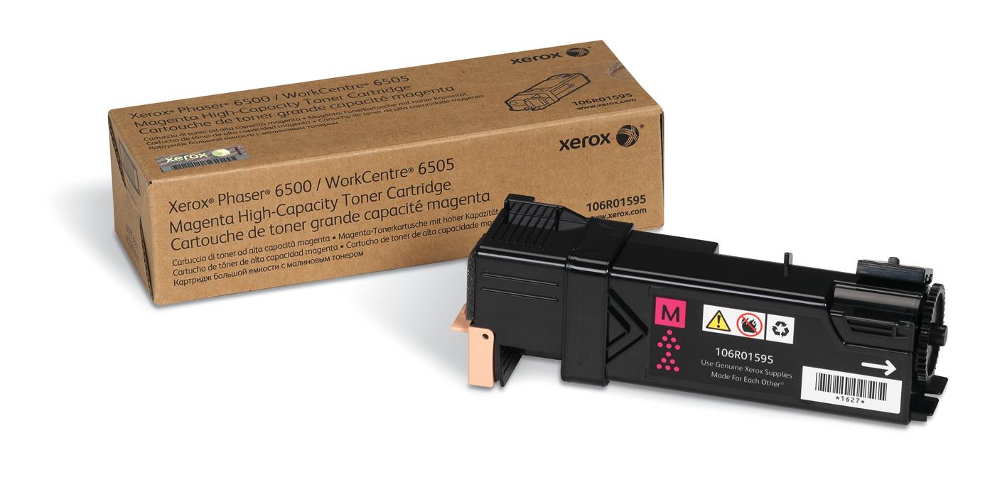 Xerox Phaser 6500/Wc 6505, Cartucho De Tóner Magenta De Gran Capacidad (2.500 Páginas)