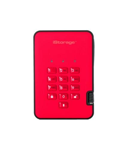 iStorage diskAshur 2 external hard drive 2000 GB Red