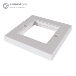 CONNEkT Gear Single Faceplate for RJ45 Modules - 2 Module version 85 x 85mm - White