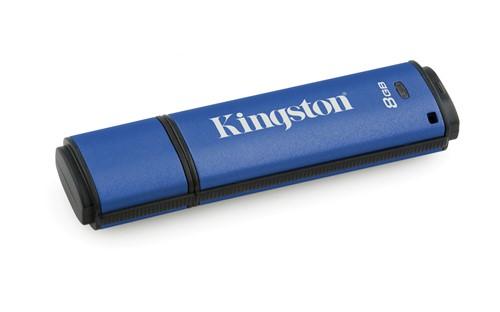 Kingston Technology DataTraveler Vault Privacy 3.0 8GB USB flash drive USB Type-A 3.2 Gen 1 (3.1 Gen 1) Blue