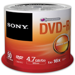 Sony DVD+R, 16X, SPINDLE 25 PCS
