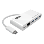 Tripp Lite 3-Port USB 3.1 Gen 1 Portable Hub, USB Type-C (USB-C) to (x3) USB-A, USB-C Charging Port & Gigabit Ethernet Port