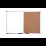 Bi-Office Maya Alu Frame Combo Board Cork/Magntic 90x60cm DD