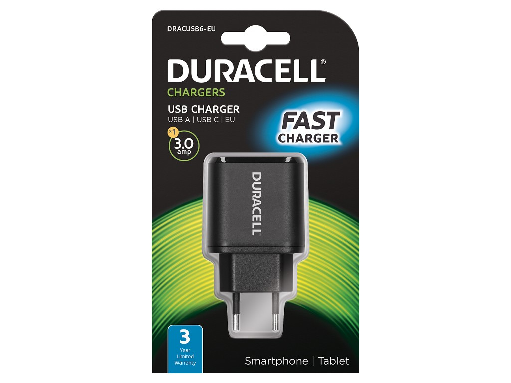 Duracell Type-C&Type-A Mains Charger