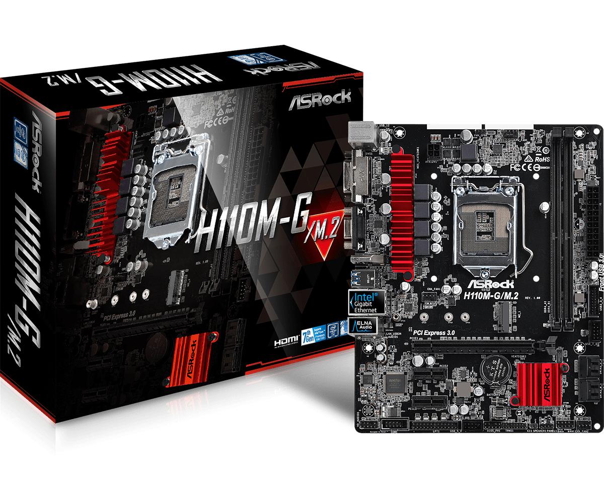 Asrock H110M-G/M.2 Intel H110 LGA 1151 (Socket H4) Micro ATX motherboard