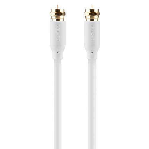 Belkin 110dB Satellite Cable 2m coaxial cable F-type RG-6/U White