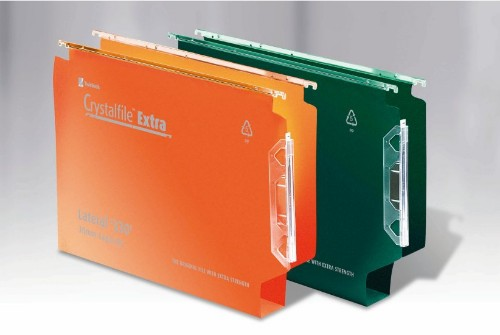 Rexel Crystalfile Extra `330` Lateral File 30mm Orange (25)