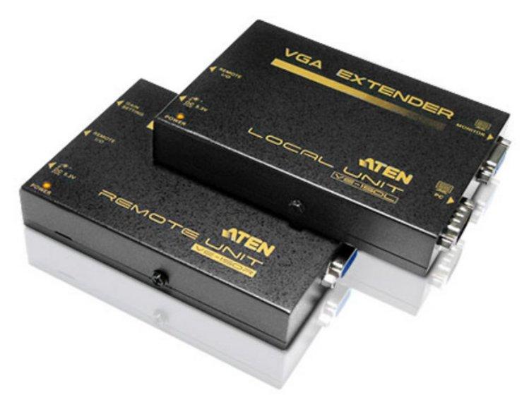 Aten VE150A AV extender AV transmitter  receiver Black