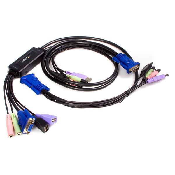 StarTech.com 2-poort USB VGA Kabel KVM-switch met Audio