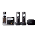 Generic Panasonic Triple Handset Cordless Telephone with Mobile Link & Repeater