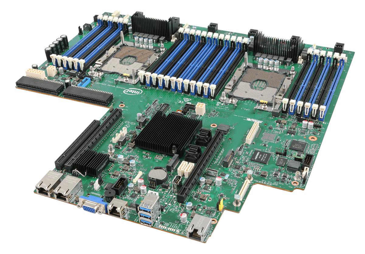 Intel S2600WFTR server/workstation motherboard Intel® C624