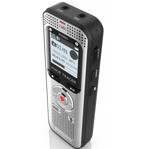 Philips Voice Tracer 2000 Internal memory & flash card Black,Silver dictaphone