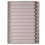A4 White 1-12 Mylar Index WX01529