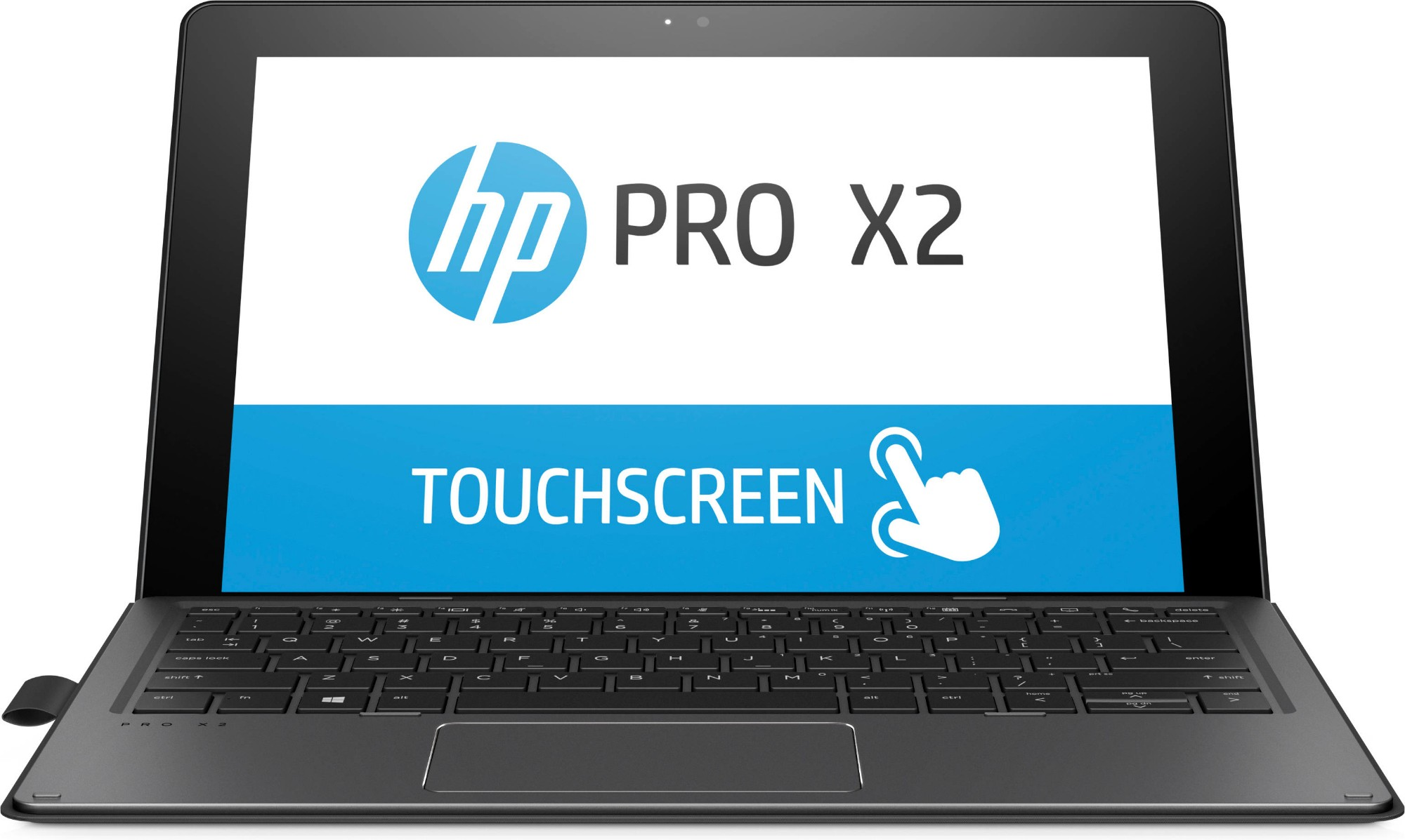 "HP Pro x2 612 G2 Black Hybrid (2-in-1) 30.5 cm (12"") 1920 x 1280 pixels Touchscreen 1.00 GHz Intel® Core™ M m3-7Y30"