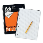 Silvine A4 4 Hole Punched Recycled Notebook (Pack 6)