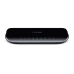 TP-LINK TL-SG1008D Unmanaged network switch Gigabit Ethernet (10/100/1000) Black network switch