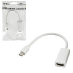 MCL CG-292CZ adaptador de cable de vídeo 0,1 m mini DisplayPort HDMI Blanco