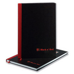 Black n' Red Book Casebound 90gsm Single Cash 192pp A4 Ref 100080537 [Pack 5]
