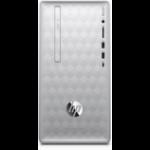 HP Pavilion 590-p0047na 8th gen Intel® Core™ i5 i5-8400 16 GB DDR4-SDRAM 2000 GB HDD Mini Tower Silver PC Windows 10 Home