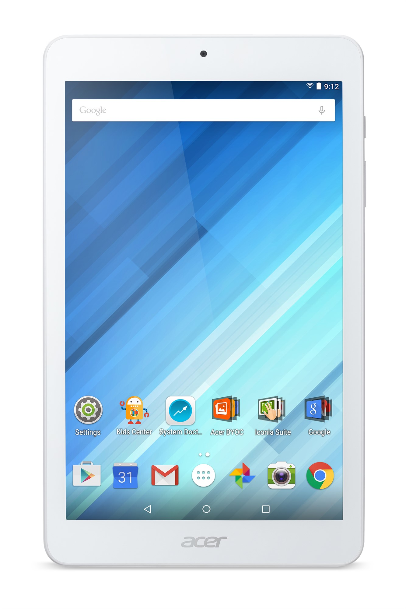 Acer Iconia B1-850 16GB White tablet