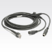 Zebra Keyboard Wedge Cable cable ps/2 4,5 m Gris